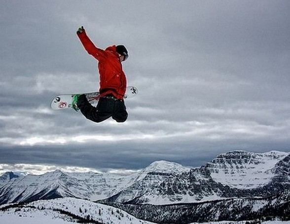 Snowboarding in Banff, Canada