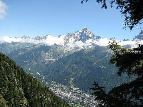 View from Brevent overlooking Chamonix