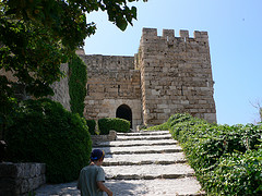 Crusader castle at Byblos in Lebanon