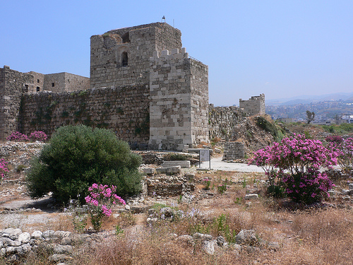 The crusader castle at Byblos in Lebanon