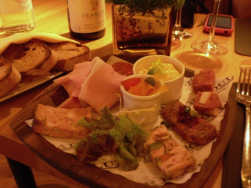Charcuterie platter at Bar Boulud, London