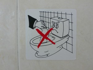 Don't throw paper down the toilet in Greece