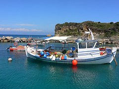 Fishing boats at Porto Roma