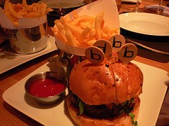 Gourmet burgers at Bar Boulud, London