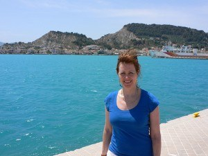 Heather in Zante town harbour