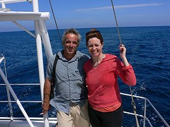 Heather with Yannis from Nature world travel