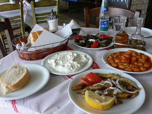 Mezze lunch in Zante town, Greece