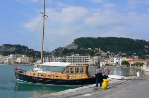 Sailing boat in Zante harbour