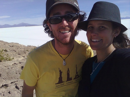 Craig and Linda on the Salt Flat Tour
