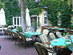 Courtyard in Hotel Zur Post in Altötting, Germany
