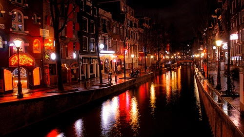 Red light district of Amsterdam by Marcel Germain