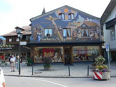 Heinzeller House in Oberammergau in Bavaria, Germany