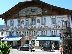 House Georg Lang in Oberammergau in Bavaria, Germany