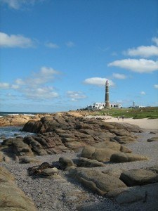 The lighthouse at Cabo Faro, Uruguay