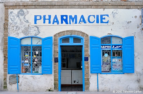The old pharmacie in Essaouria by Terence Carter