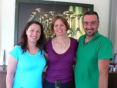 With Christina-Maria and Timothy at Oenolpi winery, Zante