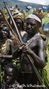 Erima tribal man at Mt Hagen Show in Papua New Guinea