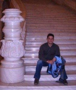 Marble stairs at Palatul Parlamentului