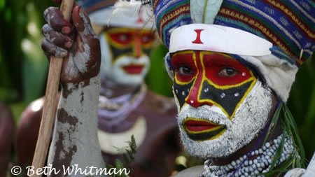 Tribal man at Mt. Hagen Show in Papua New Guinea