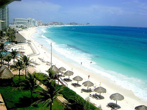 View of Cancun from the hotel room