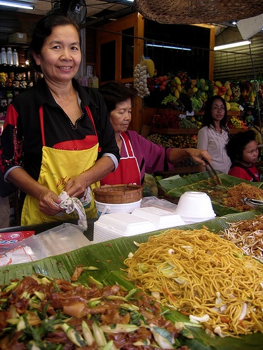 Noodle vendor - Weekend market - Bangkok