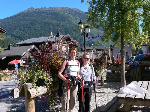 At the start of our walk in Les Houches on the Tour de Mont Blanc