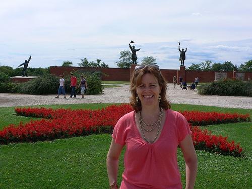 At Memento Park near Budapest