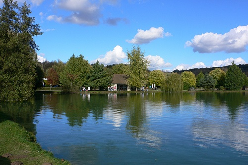 Lake at La Croix du Vieux Pont, Eurocamp