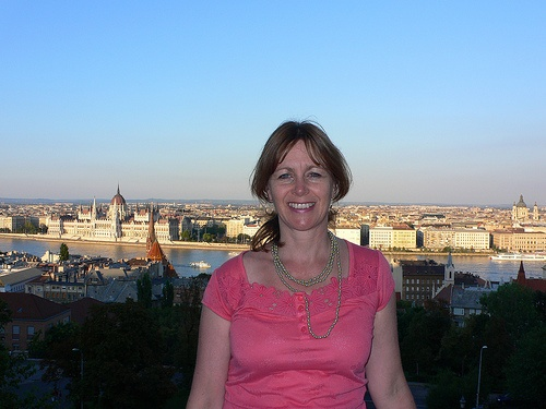 View from the Fishermen's bastion in Budapest