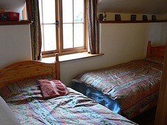 Bedroom at Buckshead eco-cottage in Shropshire