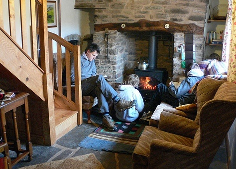 Buckshead eco-cottage interior in Shropshire