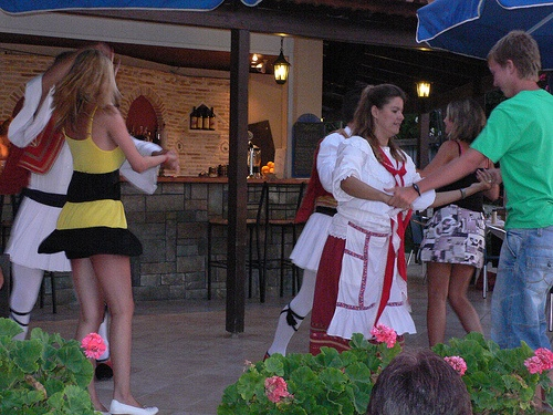 Greek dancing at the Windmill Hotel, Argassi, Zante