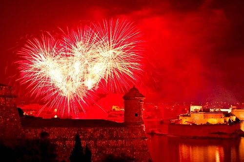Fireworks for a Maltese Festa
