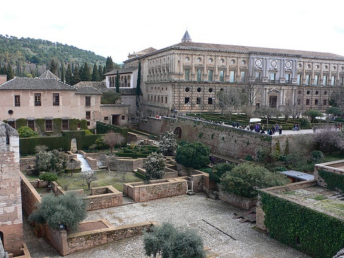 View of the Nasrid Palace in the Alhambra in Granada