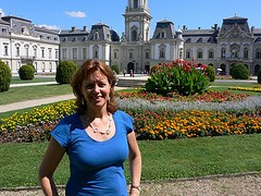 Heather at Festetics palace at Keszthely, Hungary