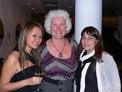 Nellie, Karen and Simon at Travel Bloggers Unite 11