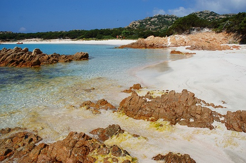Pink Beach at La Maddalena, Sardinia
