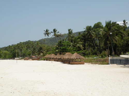 Pure white sand beach in Sierra Leone
