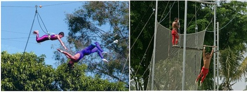 Flying trapeze at Sentosa, Singapore