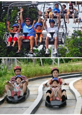 Luge ride and Skyride at Sentosa, Singapore
