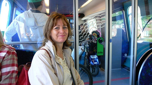 On the train in Copenhagen