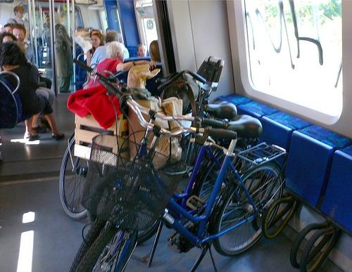 how to transfer bike in train