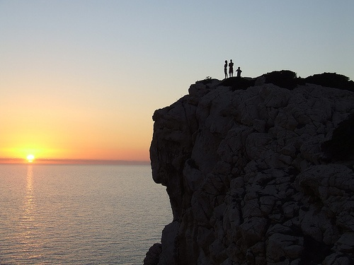Cliffside sunset in Sardinia Photo by Christophe Mallet on Flickr