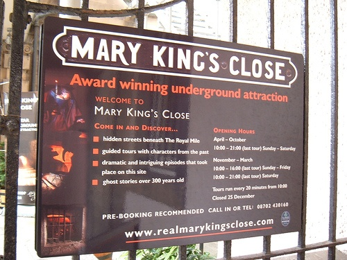 Mary King's Close in Edinburgh Photo: ztephen on Flickr