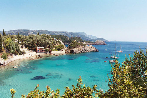 Beautiful beaches on Corfu