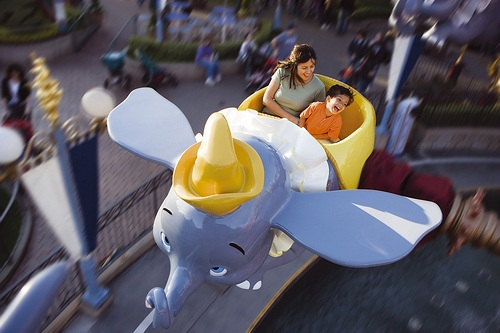 Dumbo the flying elephant ride at Disneyland Paris © Disney
