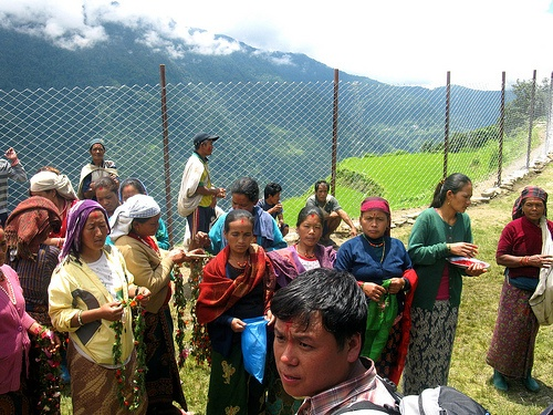 Parents at the school in Nepal