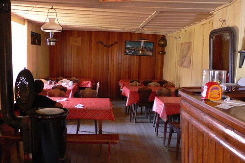 Dining room at Refuge Col de Balme