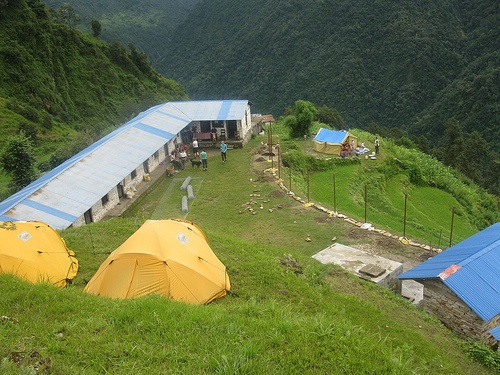 Camping beside the School in Nepal