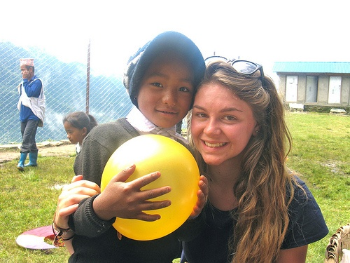 Sophie-Anne with a child from the school in Nepal
